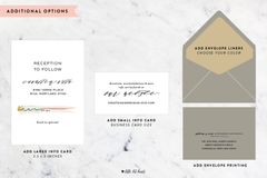 Watercolor Abstract - Customizable Wedding Invitation Set