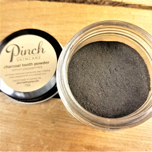 Pinch Skincare Charcoal Tooth Powder Made In Canada