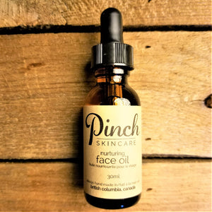 Pinch Skincare Organic Nurturing Face Oil made in Vancouver Canada