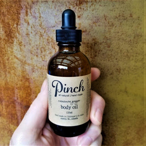 Pinch Skincare All Natural Body Oil Made In Vancouver, Canada