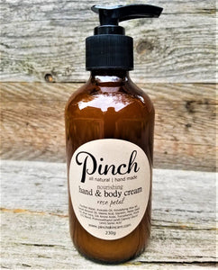 Pinch Skincare Natural Hand and Body lotion made in canada