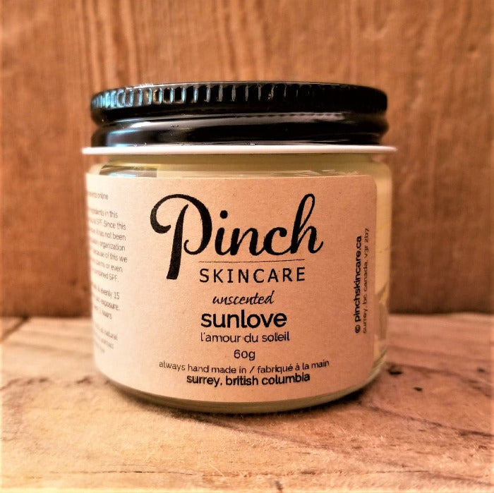 Pinch Skincare All Natural Suncreen made in Canada