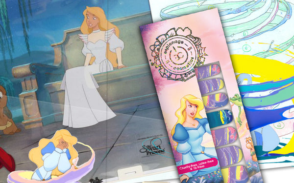 Exclusive look at the creation of The Swan Princess nail wraps!