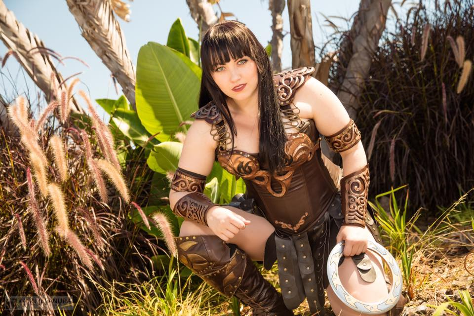 Bernadette Bentley as Xena: Warrior Princess!