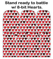 Espionage Cosmetics 8-bit Hearts Nail Wraps