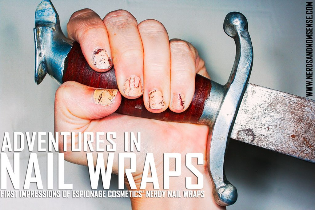 Nerd and Nomsense: Adventures in Nail Wraps featuring Espionage Cosmetics