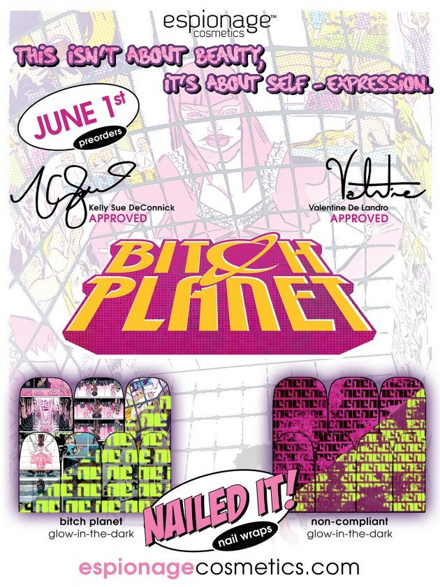 Bitch Planet & Sex Criminals Nail Wraps by Espionage Cosmetics