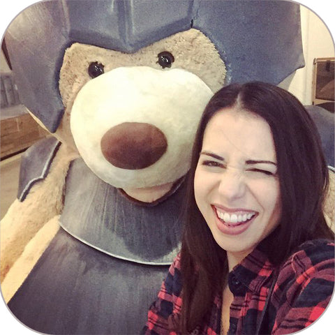 Critical Role's Laura Bailey and armored Trinket!