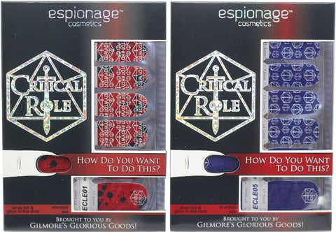 Critical Role nail wraps by Espionage Cosmetics!