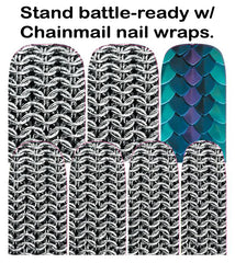 Espionage Cosmetics Chainmail Nail Wraps