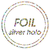 Silver Holographic Foil
