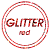 Red Glitter Accents