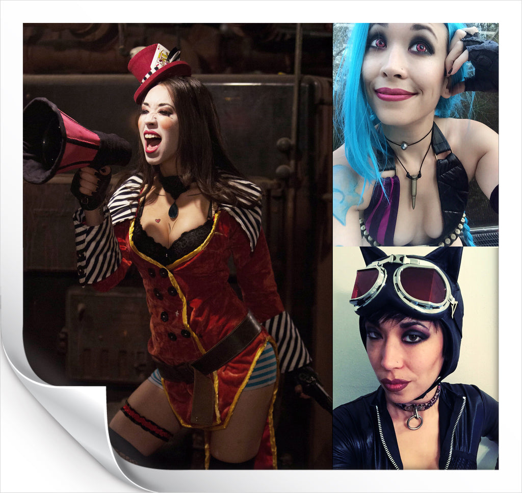 Mad Moxxi, Jinx, and Catwoman Cosplay by Fox Smith