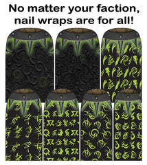 "Espionage Cosmetics ""Hordes"" nail wraps!"