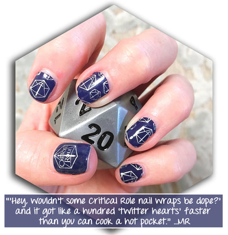Espionage Cosmetics Official Critical Role Nail Wraps