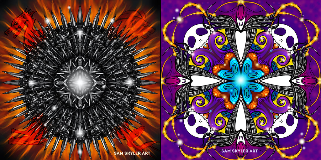 Pieces from Sam Skyler's Kaleidoscope art book!