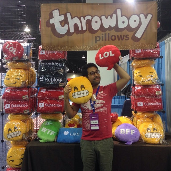 Throwboy Pillows Booth