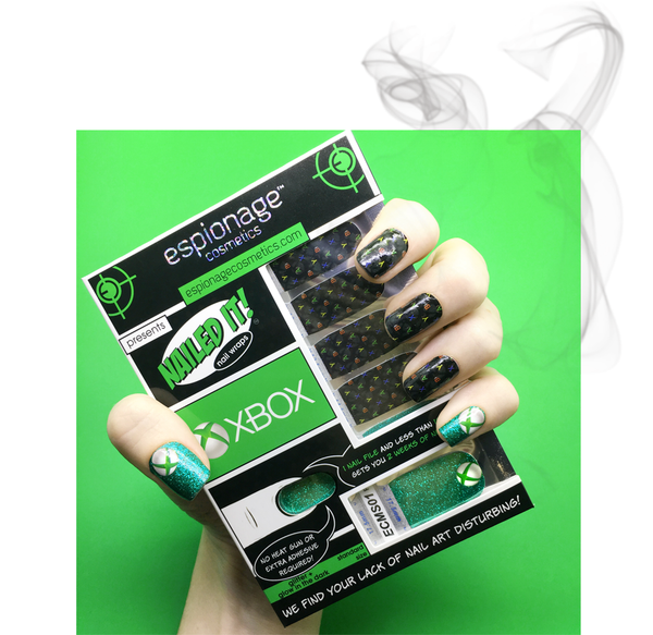 Espionage Cosmetics Xbox nail wraps!