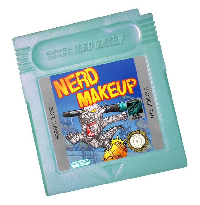 Teal Shimmer Cartridge Compact | Nerd Makeup Kongzilla
