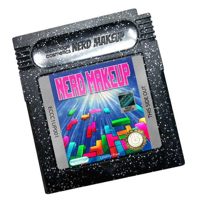 Black Glitter Cartridge Compact | Nerd Makeup Blox