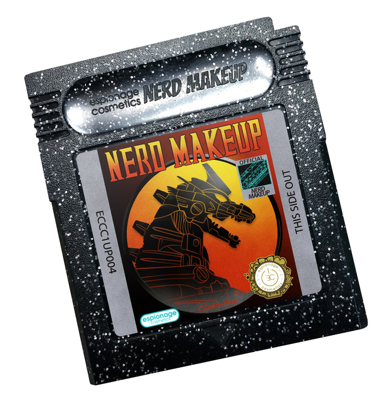 Black Glitter Cartridge Compact | Nerd Makeup Kombat