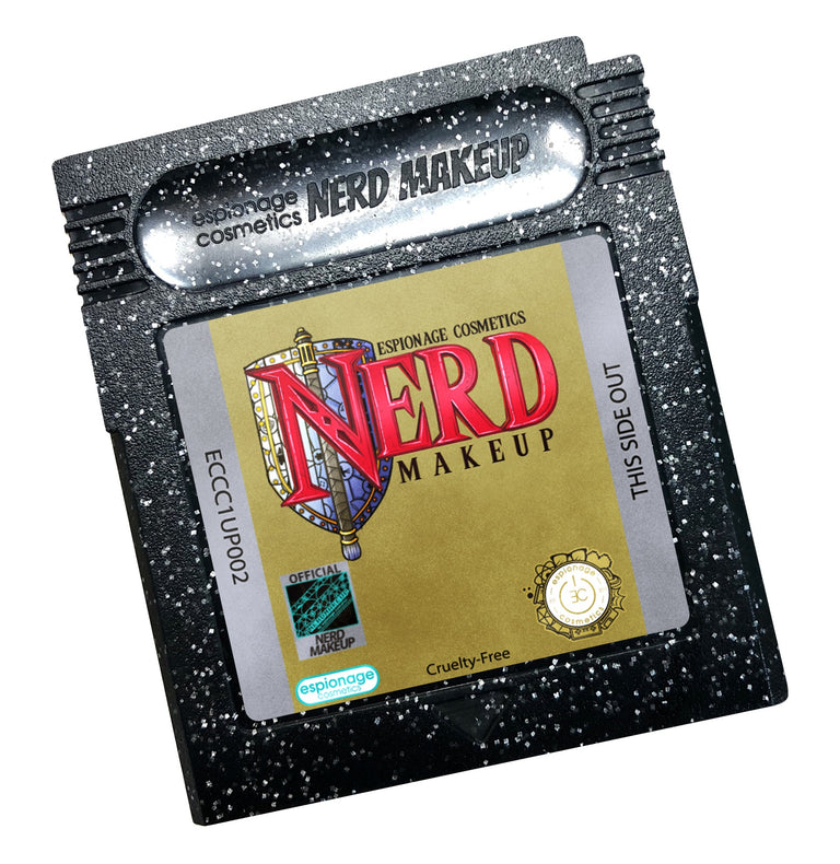 Black Glitter Cartridge Compact | Nerd Makeup Legend