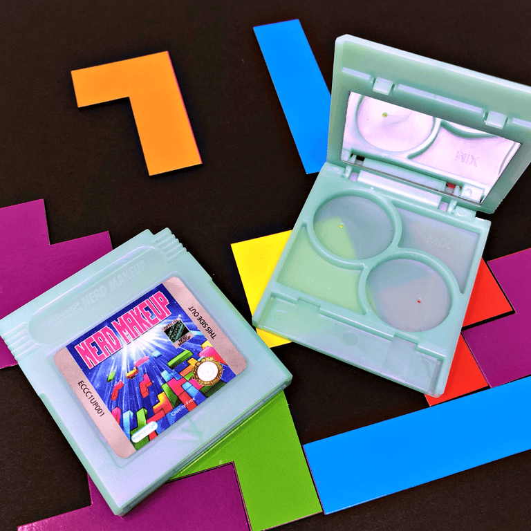 Teal Shimmer Cartridge Compact | Nerd Makeup Legend