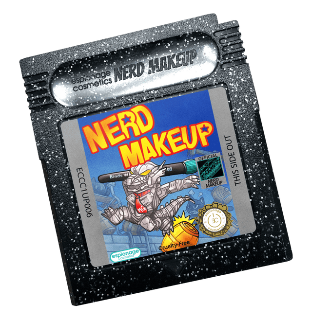 Black Glitter Cartridge Compact | Nerd Makeup Kongzilla