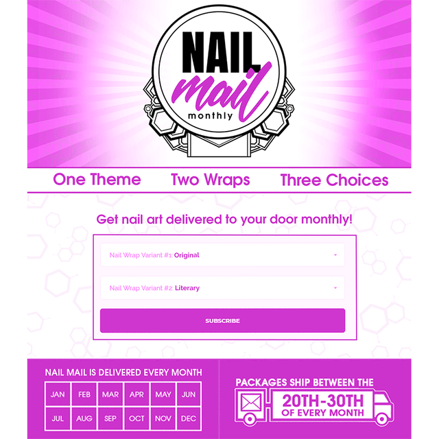 Nail Mail Monthly Gift Option