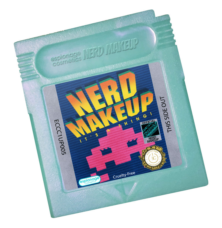 Teal Shimmer Cartridge Compact | Nerd Makeup Invaders