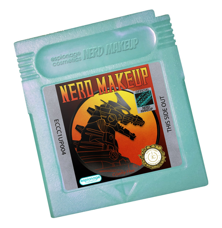 Teal Shimmer Cartridge Compact | Nerd Makeup Kombat