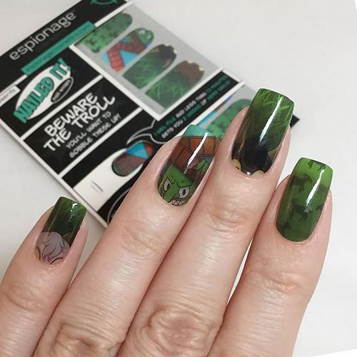 Beware the Troll-Nail Wraps-Espionage Cosmetics