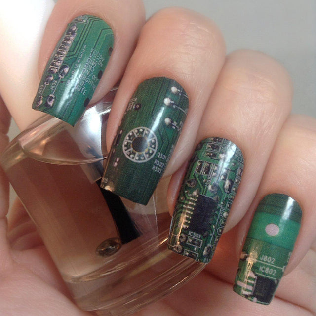 Circuit Board-Nail Wraps-Espionage Cosmetics