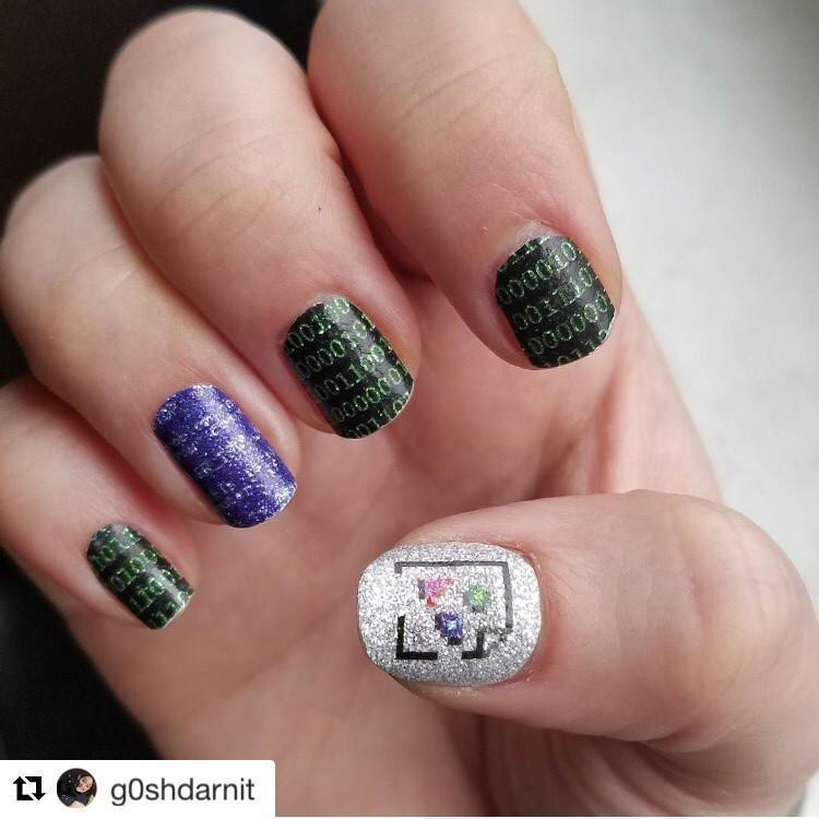 Computing (Discontinued)-Nail Wraps-Espionage Cosmetics