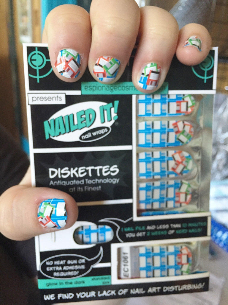 Diskettes-Nail Wraps-Espionage Cosmetics