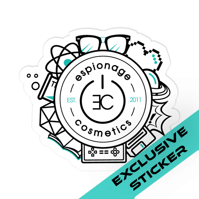 Espionage Cosmetics Logo Sticker
