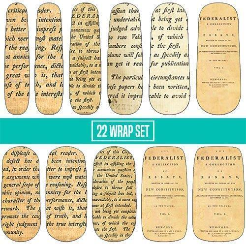 Federalist Papers-Nail Wraps-Espionage Cosmetics