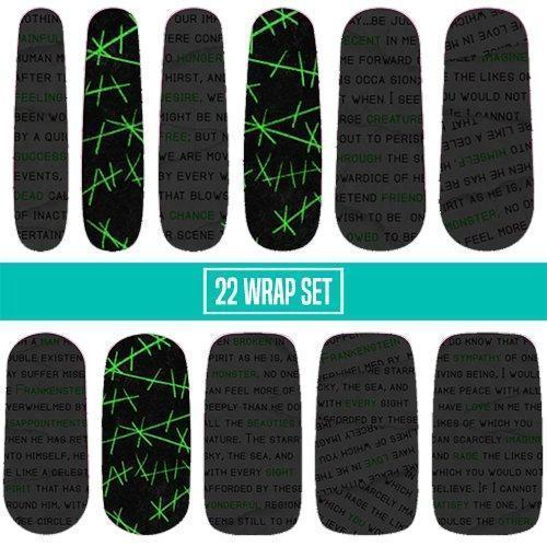 Frankenstein-Nail Wraps-Espionage Cosmetics