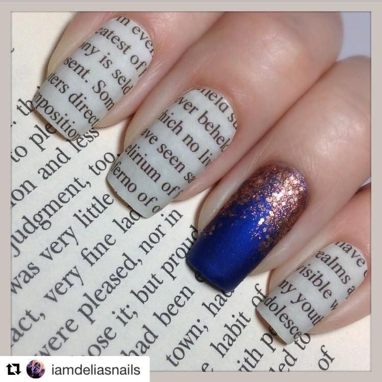 Literary (Discontinued)-Nail Wraps-Espionage Cosmetics