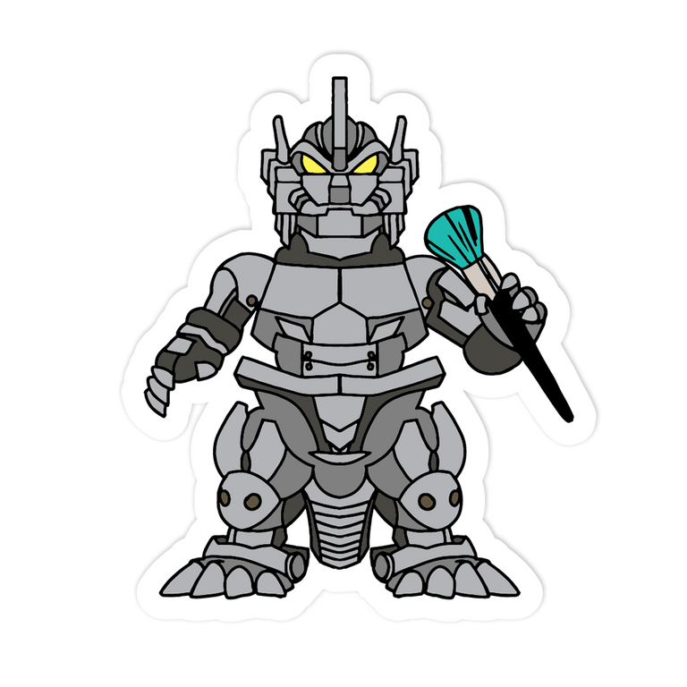 Mecha Merch Sticker