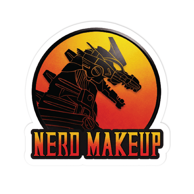 Nerd Makeup Kombat Sticker