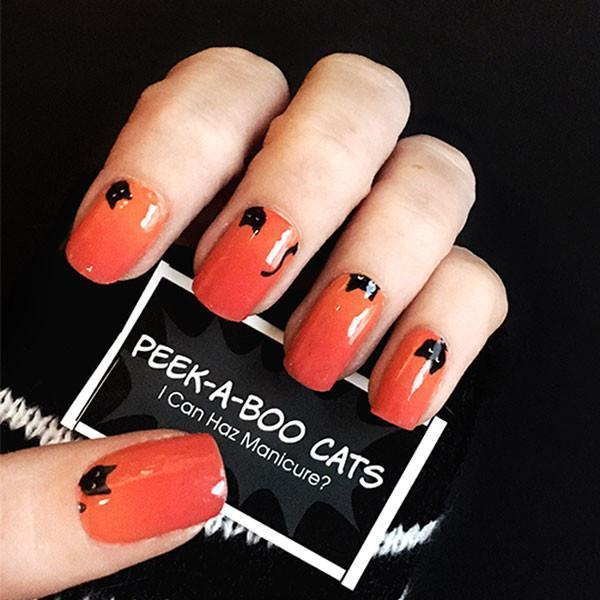 Peek-a-boo Cats-Nail Wraps-Espionage Cosmetics