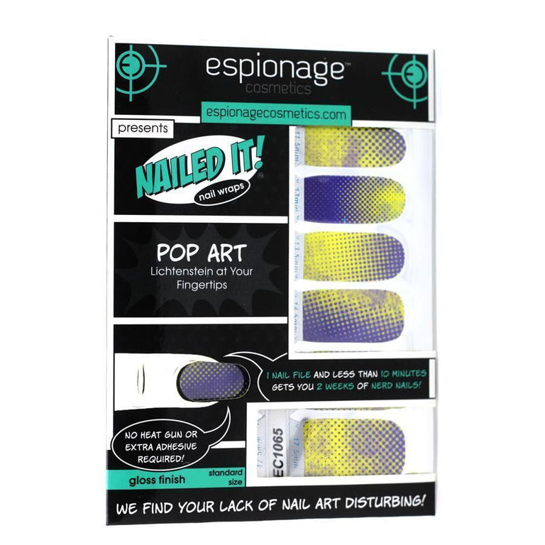 Pop Art-Nail Wraps-Espionage Cosmetics