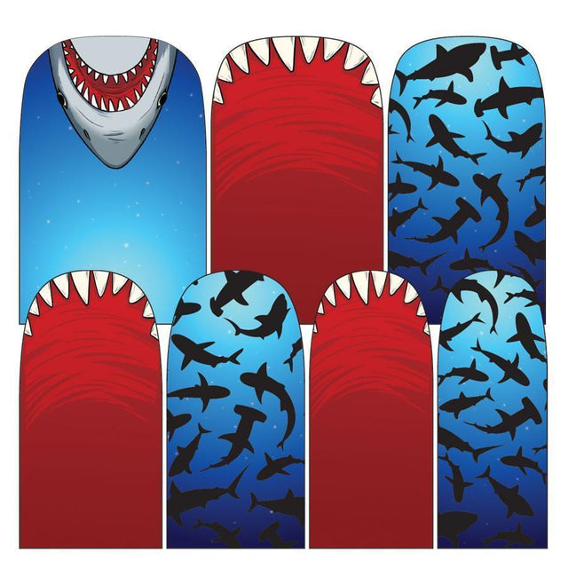 Sharks-Nail Wraps-Espionage Cosmetics