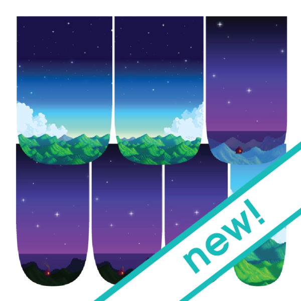 Stardew Valleyscapes-Nail Wraps-Espionage Cosmetics