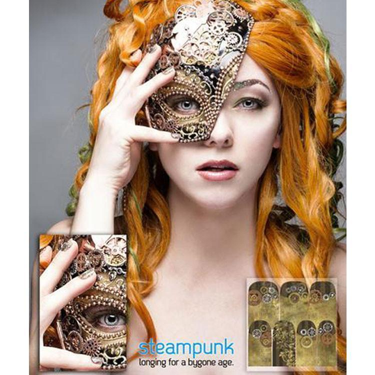 Steampunk-Nail Wraps-Espionage Cosmetics