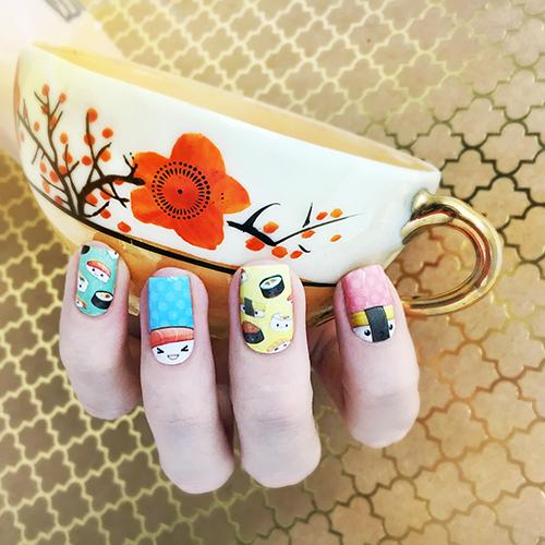 Sushi Party-Nail Wraps-Espionage Cosmetics