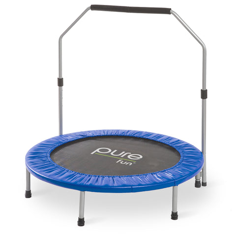 Pure Fun 40 inch Exercise Trampoline with Handrail