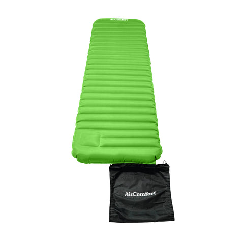 Air Comfort Roll and Go Lightweight Sleeping Pad - Lime - Pure Fitness
