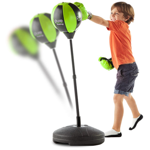 Pure Boxing Punch and Play Punching Bag for Kids - Green - Pure Fitness